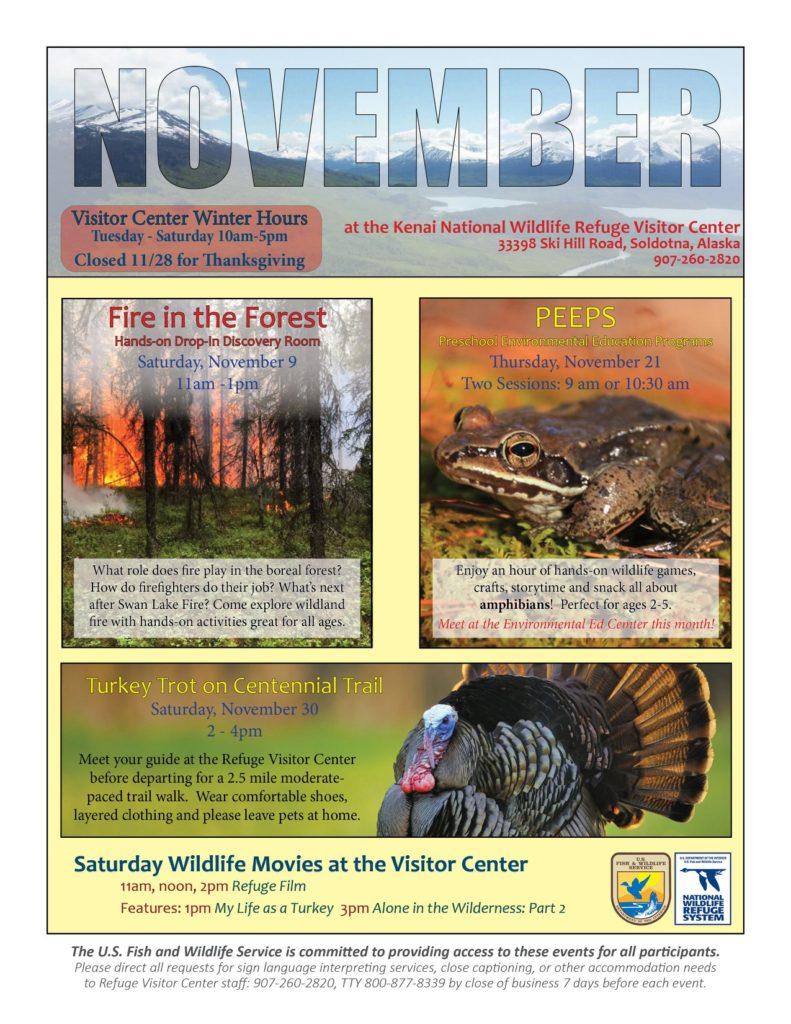 Wildlife Movies at the Refuge @ Kenai Peninsula Wildlife Refuge Visitor Center
